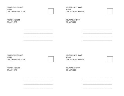 Grooming Business Forms Grooming Business in a Box Products – Free Postcard Templates for Word